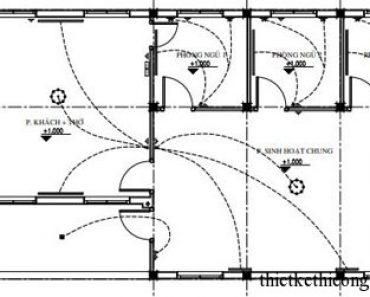 Điện nước nhà cấp 4 diện tích 7 x 19 mét