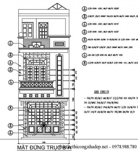 Mặt bằng nhà phố 3 tầng hiện đại mặt tiền 5m