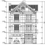 Thiết kế biệt thự kiểu pháp 3 tầng hiện đại