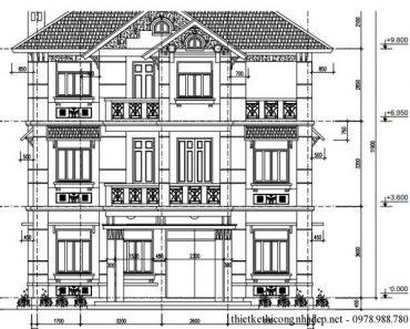 mặt tiền biệt thự 3 tầng