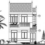 Thiết kế nhà biệt thự 2 tầng trên đất hình thang vuông