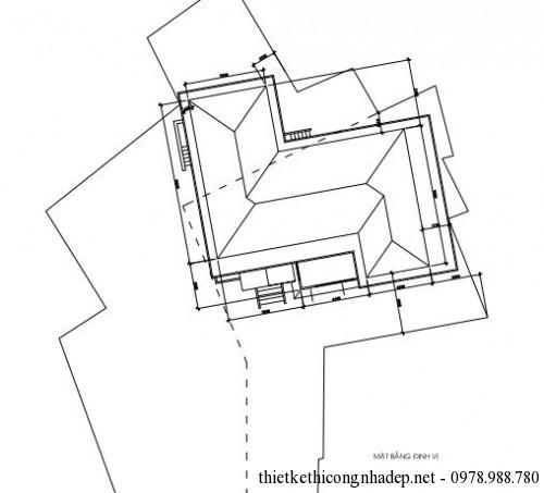 Mặt bằng định vị xây dựng của biệt thự cấp 4