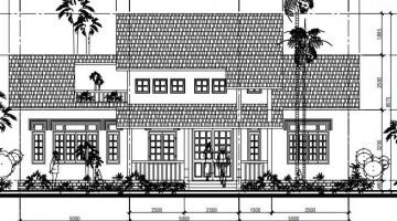 Biệt thự vườn 1 tầng có gác lửng mái thái hiện đại