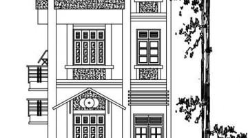 Mẫu thiết kế nhà phố 3 tầng mái bằng 6x12m