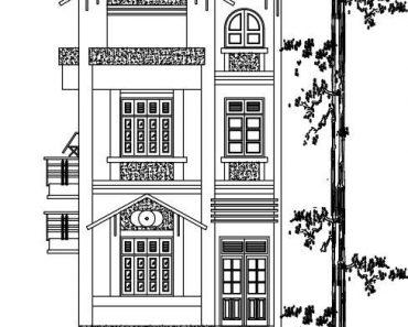 Mặt tiền nhà phố diện tích 7x12m