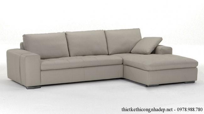 Ghế sofa góc phòng khách màu ghi xám