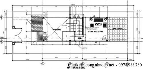mặt bằng tầng lửng nhà cấp 4