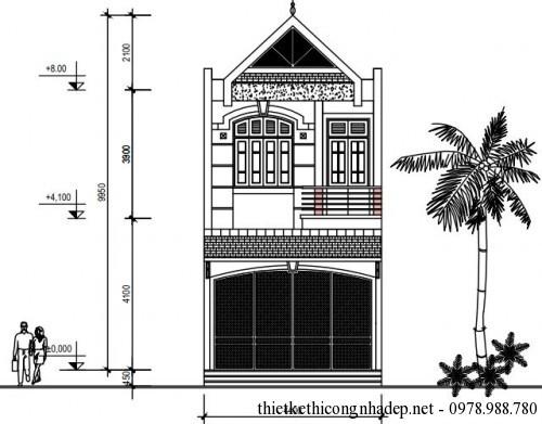 Mặt tiền nhà phố 2 tầng 5x17m