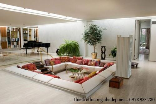 Sofa hình vuông phòng khách