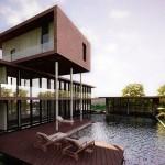Mẫu biệt thự nhà vườn Villa có hồ bơi ngoài trời