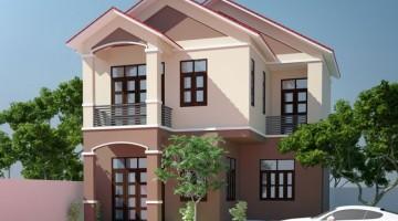 Thiết kế nhà ở 2 tầng mái thái tại Đông Triều – Quảng Ninh