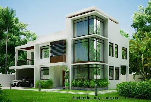 Thiết kế biệt thự nhà kính 2 tầng sang trọng 12x16m