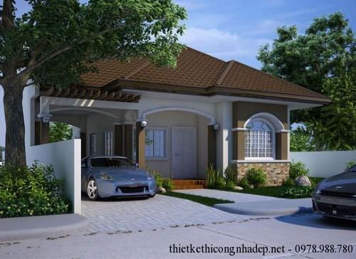 6 mẫu thiết kế nhà cấp 4 nhỏ đẹp lợp mái tôn, mái ngói