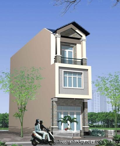 Mẫu thiết kế và dự toán nhà phố liền kề 3 tầng 4,5x18m