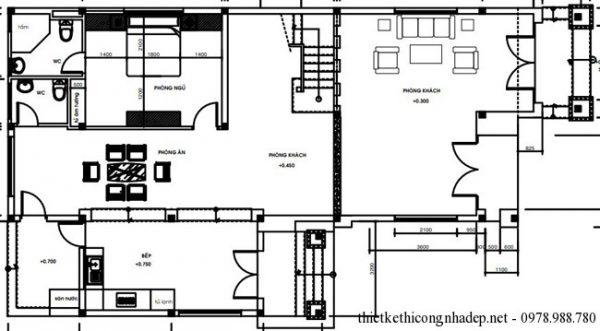 biệt thự 2 tầng 7.2x17m mái thái 4