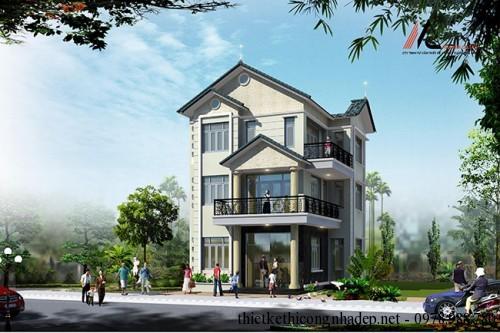 Mẫu thiết kế nhà biệt thự độc lập 3 tầng hiện đại