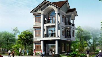 Thiết kế nội thất nhà biệt thự 3 tầng 2 mặt tiền 7x12m