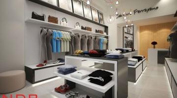 Thiết kế và thi công cửa hàng thời trang 42 hàng da
