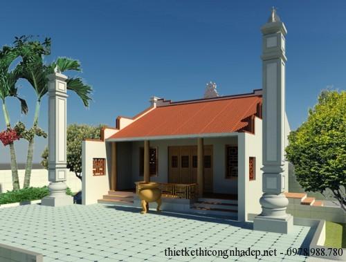 Thiết kế nhà thờ họ nhỏ đẹp tại Quỳnh Côi Thái Bình