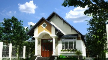 Bản vẽ thiết kế mẫu nhà cấp 4 đẹp mái thái hiện đại 7x20m