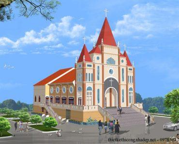 phối cảnh nhà thờ thiên chúa giáo
