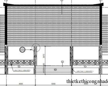 Mặt đứng nhà sàn nhà hàng