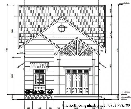 Thiết kế mẫu nhà cấp 4 mái thái đẹp 3 phòng ngủ 7.5x18m