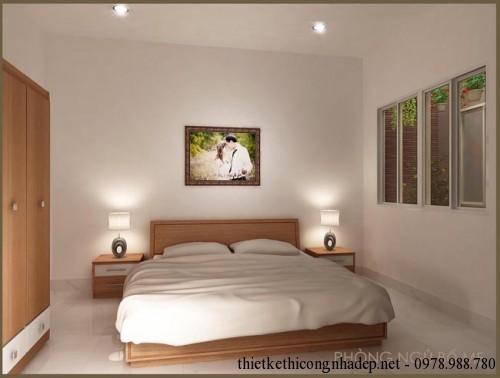 Nội thất phòng ngủ bố mẹ nhà cấp 4 6x23m
