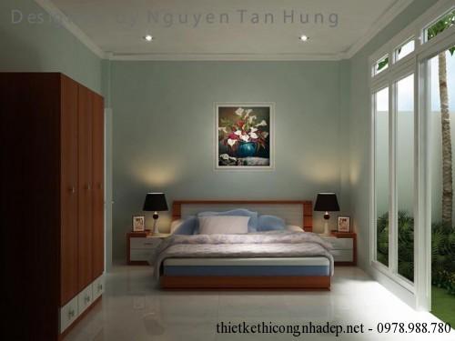 Nội thất phòng ngủ nhà cấp 4 4x19m góc 1