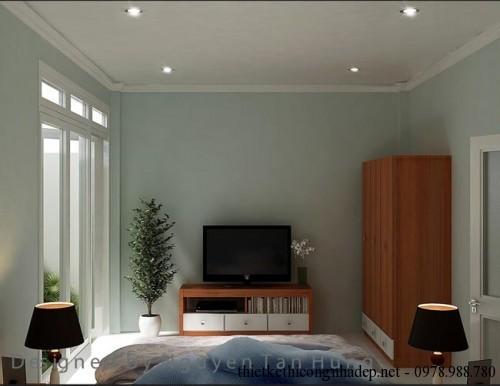 Nội thất phòng ngủ nhà cấp 4 4x19m góc 2