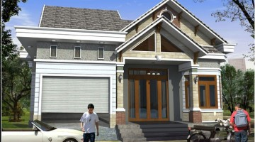 Bản vẽ thiết kế mẫu nhà cấp 4 mái thái hiện đại 9.6x21m