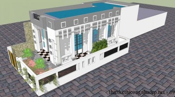 Thiết kế nhà cấp 4 nhà 1 tầng nhà trệt mái bằng đẹp 6x14m
