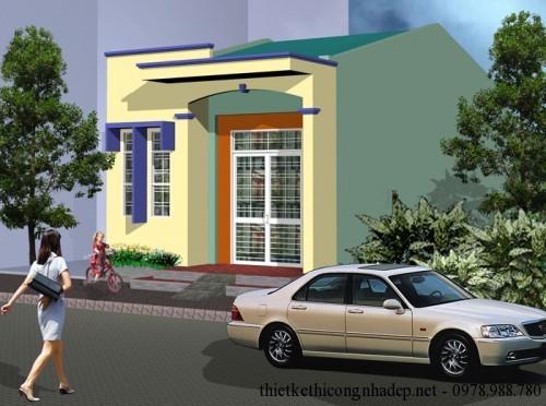 Tư vấn thiết kế nhà trệt với kích thước 5x18m