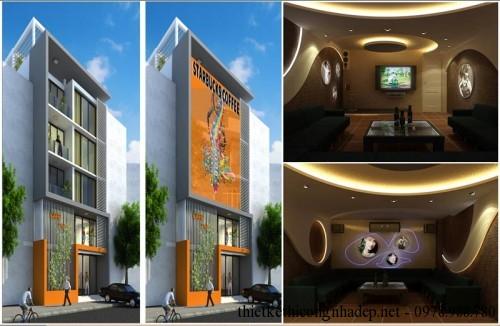 Kiến trúc và nội thất quán karaoke 5x20m pa1