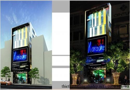 Kiến trúc và nội thất quán karaoke 5x20m pa2