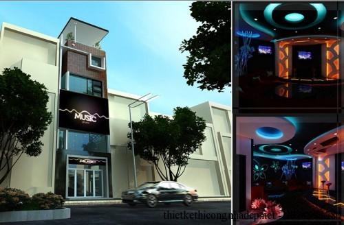 Kiến trúc và nội thất quán karaoke 5x20m pa8