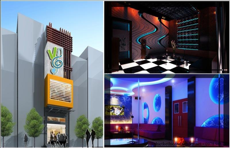 Kiến trúc và nội thất quán karaoke 5x20m pa9