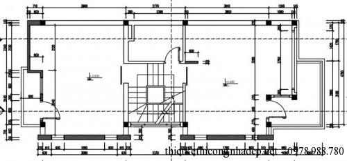 Mặt bằng chung nhà phố 5 tầng 5x12m