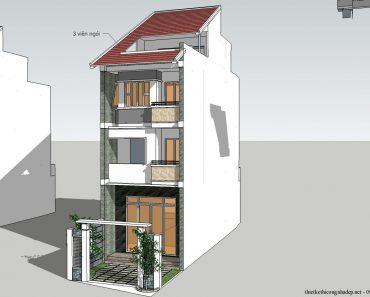 Mặt tiền nhà phố 3 tầng 5x18m