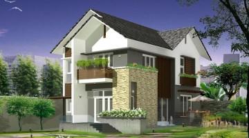 Thiết kế nội thất nhà biệt thự 2 tầng đơn giản đẹp 8x15m