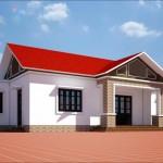 Thiết kế nhà cấp 4 mái thái hiện đại tại Vĩnh Phúc 9x16m