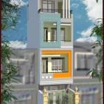 Bản vẽ thiết kế nhà phố 4 tầng 3.5x13m đẹp hiện đại