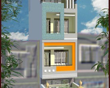 Dù diện tích nhỏ thì bạn vẫn xây dựng được 1 căn nhà phố 3 tầng hiện đại