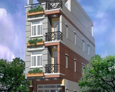 Phối cảnh nhà phố 4 tầng 4x15m