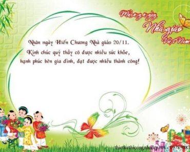 Thiệp mừng ngày nhà giáo Việt Nam