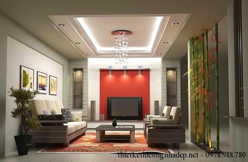 Nội thất phòng khách nhà phố 2 tầng 3x18m