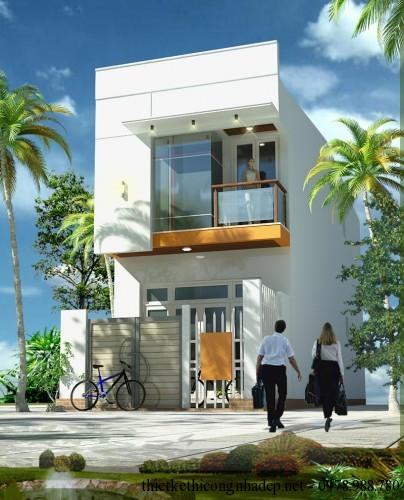 Thiết kế nội thất nhà phố 2 tầng 54m2 đẹp 3x18m