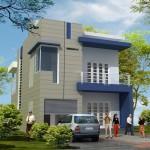 Mẫu bản vẽ thiết kế nhà phố 2 tầng đẹp 7.6x16m