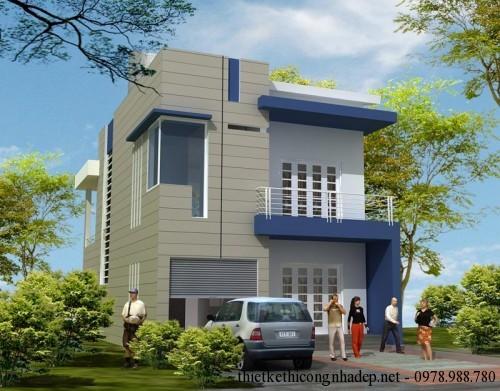 Mẫu thiết kế nhà phố 2 tầng 7.6x16m