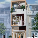 Mẫu thiết kế mặt tiền nhà phố 3 tầng đẹp 5x15m